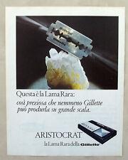 E511-Advertising Pubblicità-1967-GILLETTE ARISTOCRAT LAMA RARA