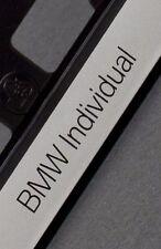 2 x BMW Individual European Euro License Number Plate Frame Holder Tag Mount