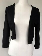 White House Black Market Cropped Bolero Size M Women Black Sweater Shrug top