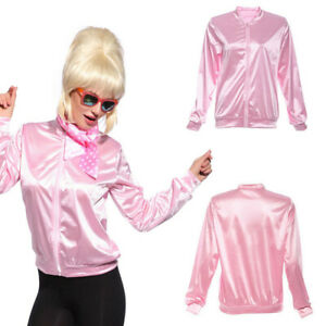 Ladies Costumes Pink Jackets Girls Women Satin Halloween Dress Costume Stage