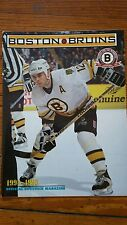 1994-1995 Boston Bruins Official Game Program with Adam Oates cover - Cam Neely