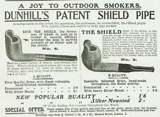 More details for alfred dunhill patent shield pipe 1906 advert k782
