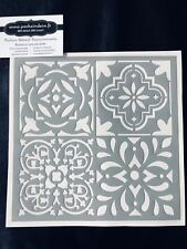 Pochoir Adhésif Réutilisable 20 x 20 cm 4 Faïences / Carreaux Ciment Anciennes