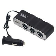 Allume-Cigare Voiture Multi prise Découpleur 3 branches CHARGEUR USB Adaptateur