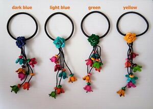 0Hair band Women Fashion Beads Colorful Flower Handcraft Lady Cute Gift S1