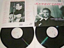 2 LP - Johnny Cash Greatest Hits and Favorites - 2010 unplayed # cleaned