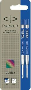 Parker Gel Medium point BLUE INK refill for Parker ballpoint pens PACK OF 2