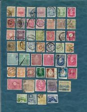 50 different old stamps from Japan - off paper