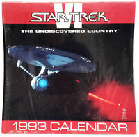 2021 = 1993 STAR TREK: VI Undiscovered Country FULL COLOR WALL CALENDAR, NEW