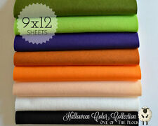 "HALLOWEEN Felt Collection, Merino Wool Blend Felt, EIGHT 9"" X 12"" Sheets"