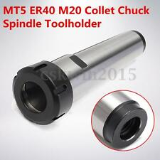 MT5 Morse Taper ER40 M20 Collet Chuck  Spindle Toolholder Lathe Milling Holder