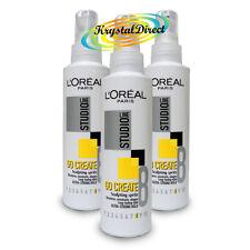 3 x LOreal Studio Go Create Sculpting Spritz 150ml Pump Spray