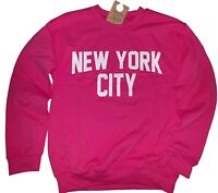 New York City Sweatshirt Screenprinted Hot Pink Adult NYC Lennon Shirt