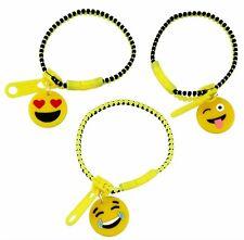 Amarillo y Negro de pulseras de cremallera de plástico emoji-Diseños Surtidos