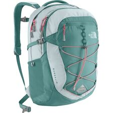 The North Face Women's Borealis Backpack w/Laptop Sleeve HydroGreen/SnowconeRed