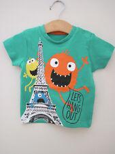 Pep & CO MONSTRUOS Torre Eiffel T-Shirt Top Bebé Niños edad 6-9 meses Nuevos