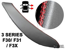 Door Handle Cover BMW 318, 320, 330 F30 F3X Black Leather Red Stitch RIGHT