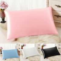 Soft 100% Mulberry Pure Silk Pillowcase Covers Queen Standard 1pcs