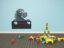 07-09 Cute Funny Horse Wall Graphic Chalk Board Decal Home Decor Art Mural