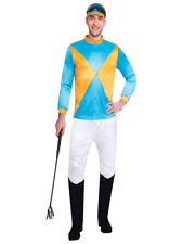 Adult Jockey Horse Racing Mens Male Rider Fancy Dress Outfit Costume