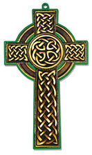 WOODEN CELTIC CROSS - IRELAND - STATUES CANDLES PICTURES CRUCIFIXES ALSO LISTED
