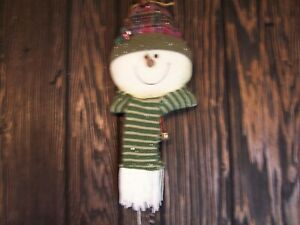 Puffy Snowman Face with Scarf Wall or Door Hanger
