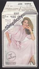 Vintage 5317 Simplicity Misses' Dress & Sash Pattern - NEW - Sizes 6-8-10 1981