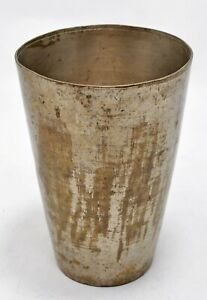 Antique Brass Drinking Glass / Cup Original Old Hand Crafted Engraved