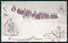 Militari Reggimentali 60º Reggimento Fanteria Colle Foens cartolina XF5175