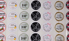 1000 FULL COLOUR Round (50mm) Self Adhesive / sticky Paper Labels CUSTOM PRINTED