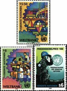 UN - Vienna 89-90,91 (complete issue) fine used / cancelled 1989 World Bank, Nob