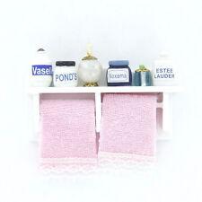 1/12 Dollhouse Miniature Wood Bathroom Wall Mount White V8R6