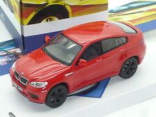 Nuevo 1:43 Solido BMW X6M V8 Turbo SUV n E71 X5M F70 E53 F16 Rojo Modelo Motorsport