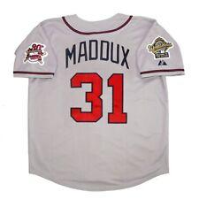 Greg Maddux Atlanta Braves 1995 World Series Grey Road Jersey Men's (M-2XL)
