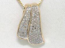 Diamant  Anhänger 585 Gelbgold 14Kt Gold 112 Diamanten total 0,56ct