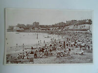 Vintage Phototype Postcard The Sands, Broadstairs Franked Broadstairs 1951