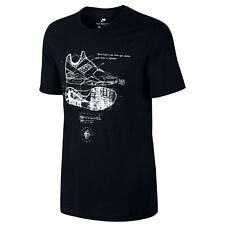 NIKE Tri-Blend Huarache Sketch T-Shirt sz L Large Black White Elite Tinker 89