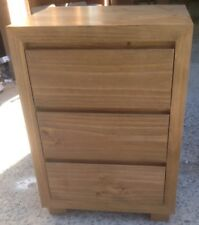 Chest of Drawers, Bedside, Retro,3 Drawers, Pine, Stained