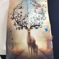 ChengQiSM Jigsaw Puzzle Deer In The Forest 1000 Piece Chinese Mystical