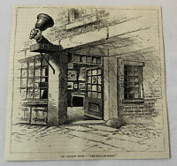 1885 magazine engraving ~ THE BELL IN HAND ~ Boston