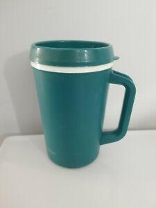 Vintage 20 oz Aladdin Insulated Travel Coffee Cup Mug w Lid CLEAN! Jade Green