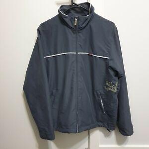Vintage Quiksilver Grey Windbreaker Lightweight Jacket Size Mens Small