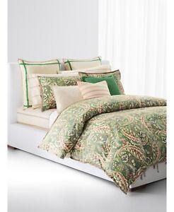 $420 Lauren Ralph Lauren Allie Paisley Full / Queen Two Shams Comforter Set