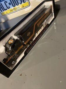 DIE CAST HARLEY DAVIDSON HD SEMI TRUCK TRACTOR TRAILER REPLICA COIN BANK 1:43 X1
