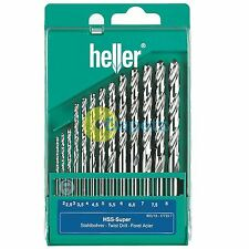 Heller 13 Piece HSS-G Super Twist Metal Drill Bit Set 2mm - 8mm Ground German
