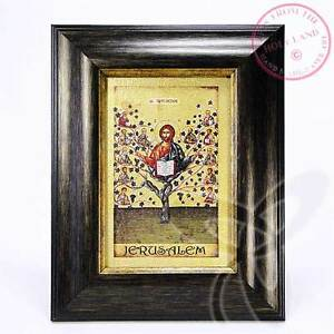 Leinwand Druck Ikone 12 Aposteln Weinstock geweiht gold Farbe Holz Rahmen 1520