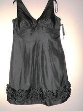 NWT NIGHTWAY Women's Dress Size 16 Black Open Back Padded Zipper Pullover
