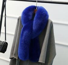 Neu Winter Damen Schal Kragen Blau schönes Stola Warm Fuchspelz-Imitat Jacke