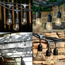 48FT 24Bulbs Waterproof Commercial Grade Patio Globe String Lights Outdoor