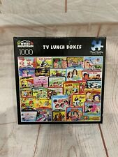 White Mountain Jigsaw Puzzle TV Lunch Boxes - 1000 Piece